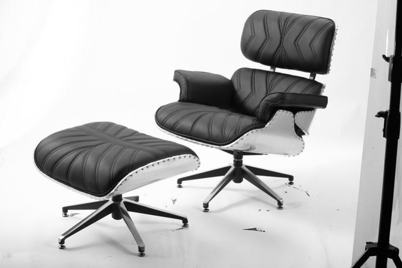 Vintage WW2 Modern Lounge Chair - Executive Black