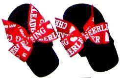 Cheer leader Red Fun Child Flip Flop for children..