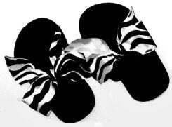 Zebra strip child's Flip Flops for children.