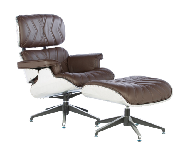 Vintage WW2 Modern Lounge Chair - Traditional Brown