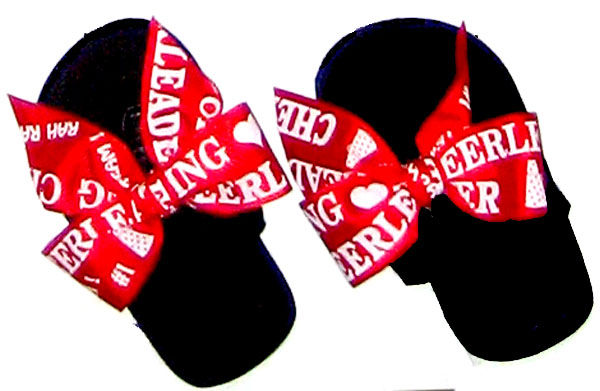 Cheer leader Red Fun Child Flip Flop for children..