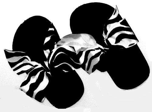 Zebra strip child's Flip Flops for children.