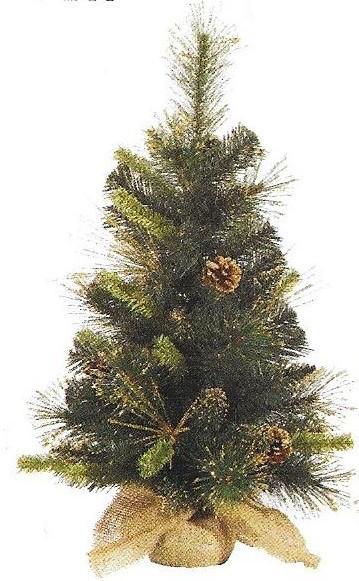 (Golden) Gold Glitter Tip Pine - 24 x 12