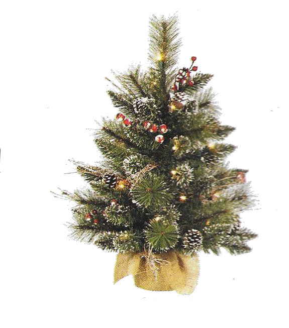 Snow Tipped Berry Pine - 2 ft x 16 inch