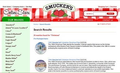 Smuckers web site screenshot