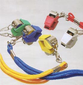 unique colorful whistles