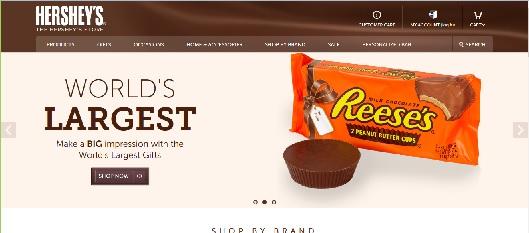Hershey's Chocolate website screenshot