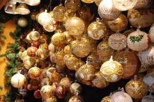 Cheap luxurious looking Christmas ornaments.