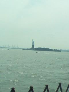 Liberty Island from Staten Island Ferry