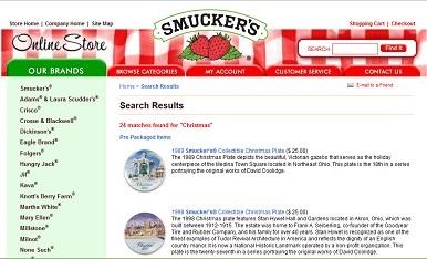 Smuckers web site screenshot