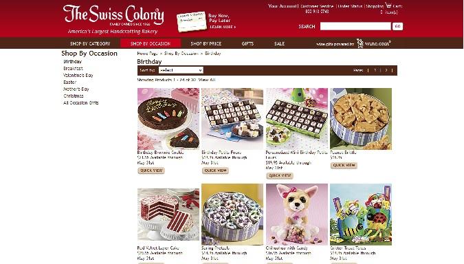The Swiss Coloney shopping screenshot