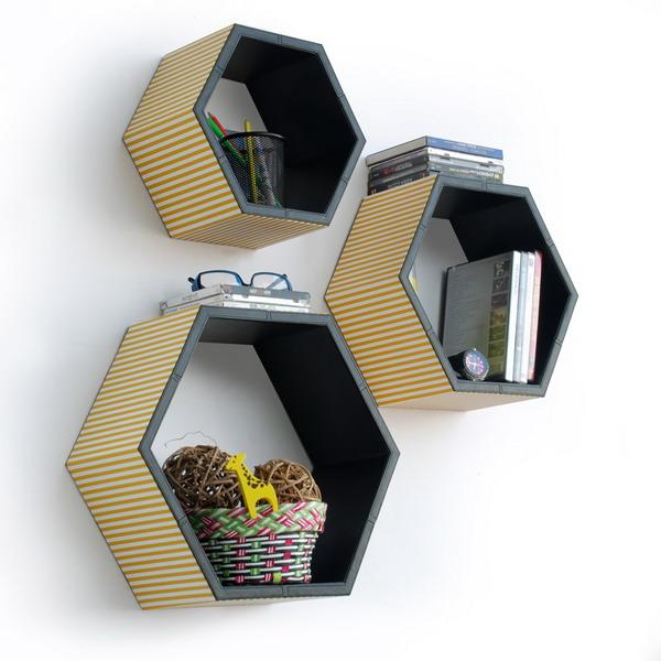 Hexagon Shape Wall Shelves.