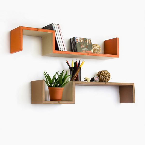 S Shape Wall Shelves