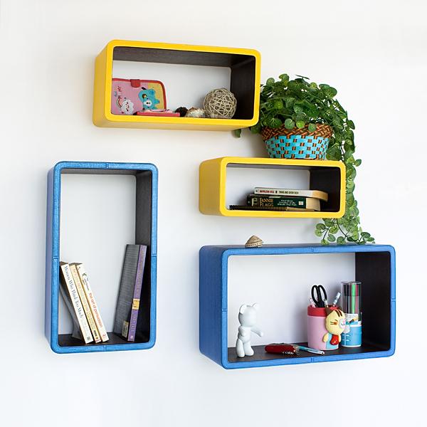 Rounded Blocks Wall Shelves