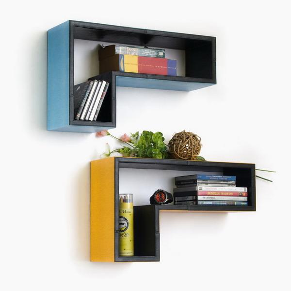 Block Shape Wall Shelves